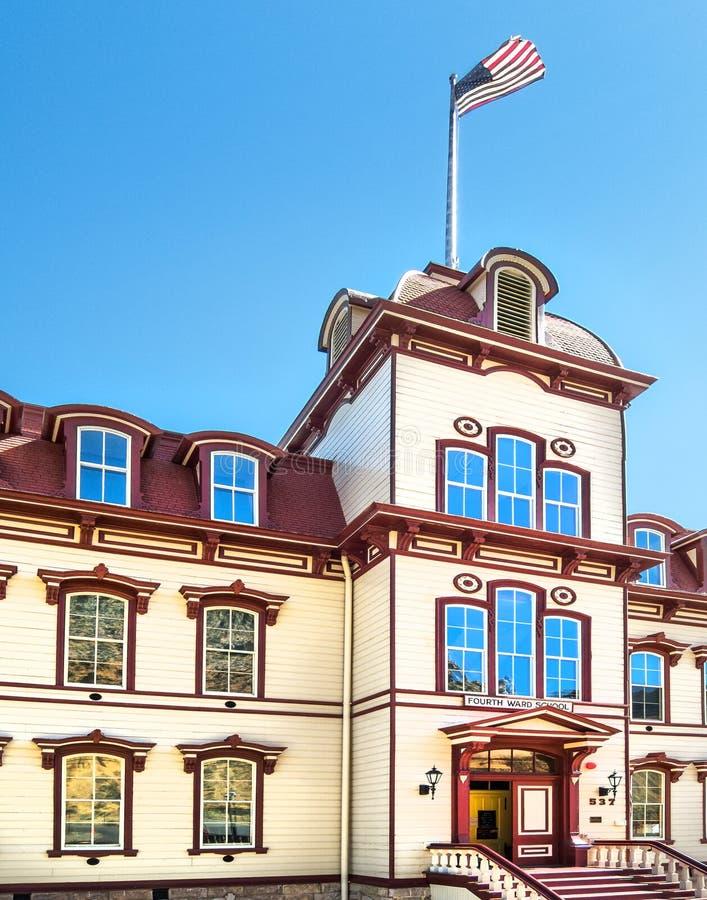 Vierter Ward School, Virginia City, Nevada lizenzfreies stockfoto