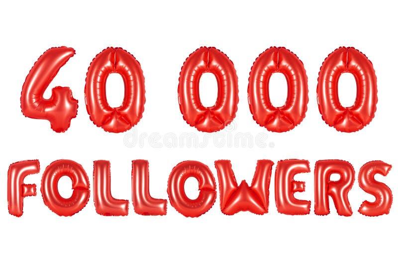 Vierzig tausend Nachfolger, rote Farbe stockfoto