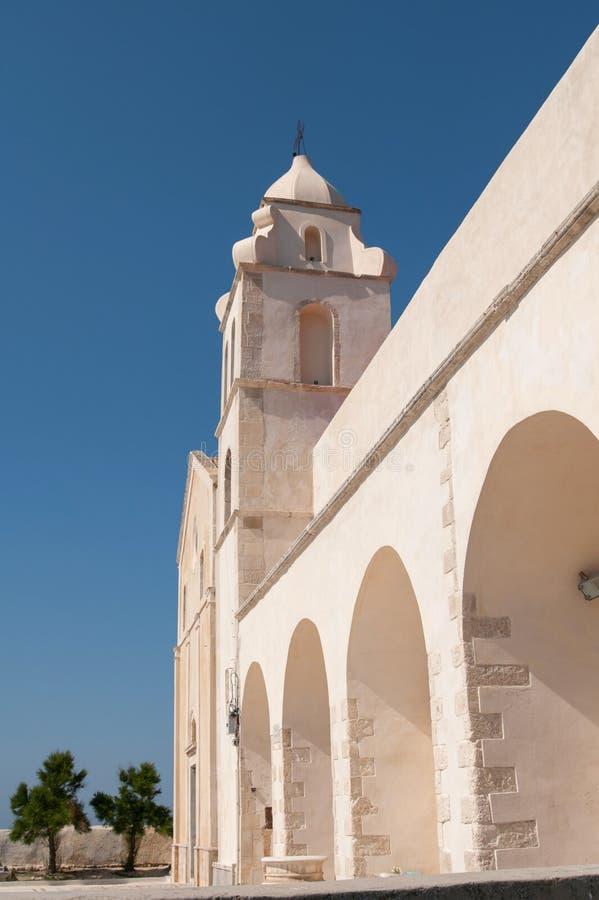 Vieste, ο πύργος εκκλησιών του ST Francis στοκ φωτογραφίες