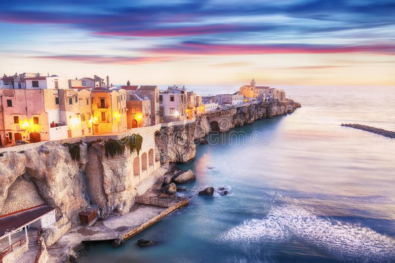 Vieste - beautiful coastal town in Puglia stock photography