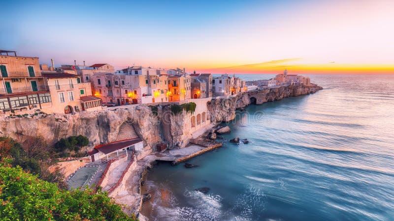 Vieste - bella citt? costiera in Puglia immagini stock libere da diritti
