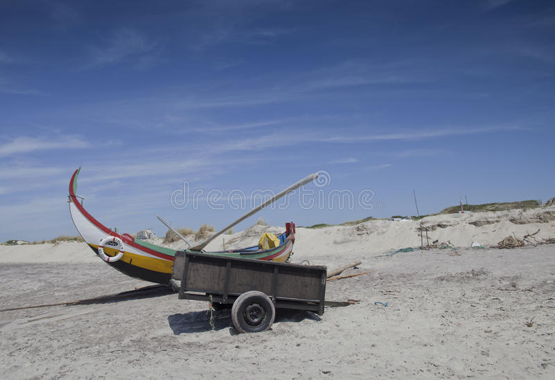 viet för nam för strandfartygdanang fiske royaltyfri foto