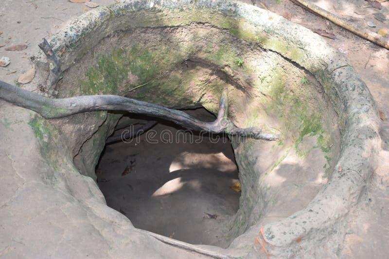 Vietcong tunelowi systemy w Cu Chi w Wietnam, Azja obraz royalty free