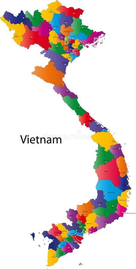 Vietnam översikt stock illustrationer