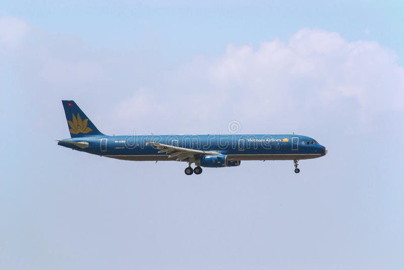 Vietnam Airlines Airbus 321 fotografia stock libera da diritti