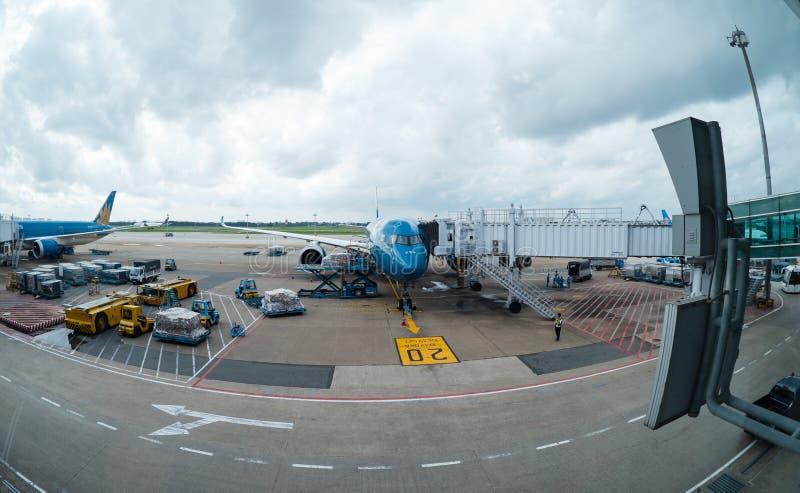 Vietnam Airlines Airbus A350 lizenzfreie stockbilder