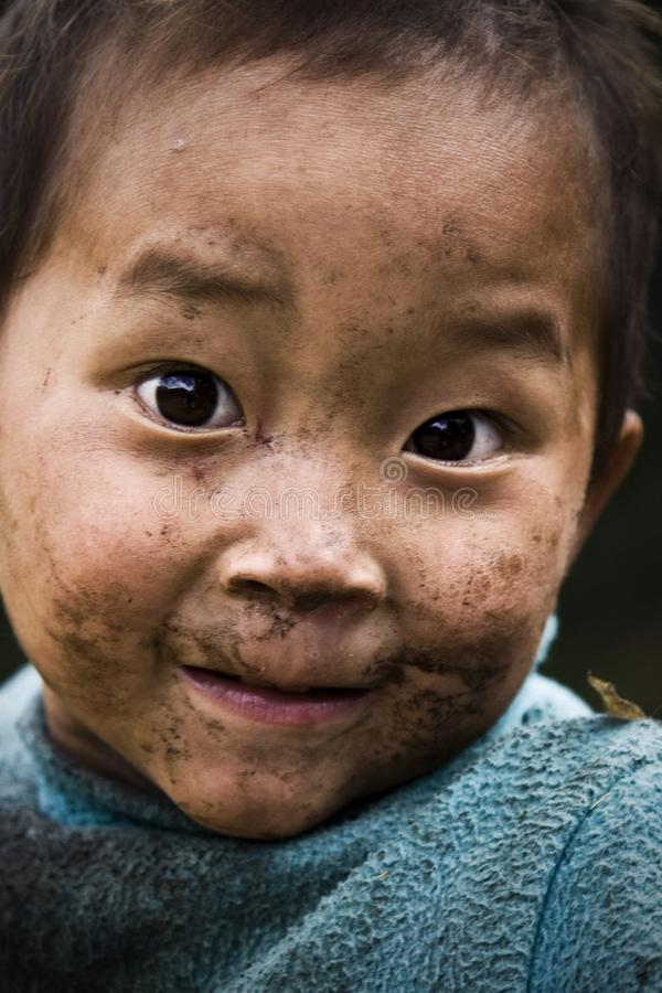 Vietnam barn royaltyfria foton