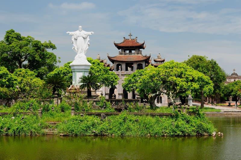 Vietnam - catedral fantástica de Diem fotos de archivo