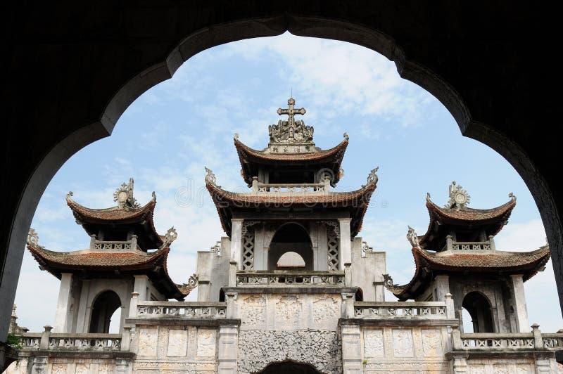 Vietnam - catedral fantástica de Diem imágenes de archivo libres de regalías
