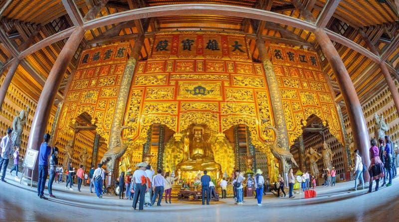 Vietnam Chua Bai Dinh Pagoda stockbild