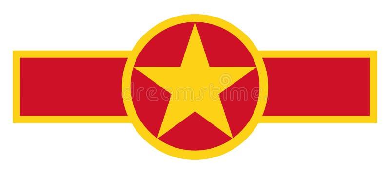 Vietnam country roundel stock illustration