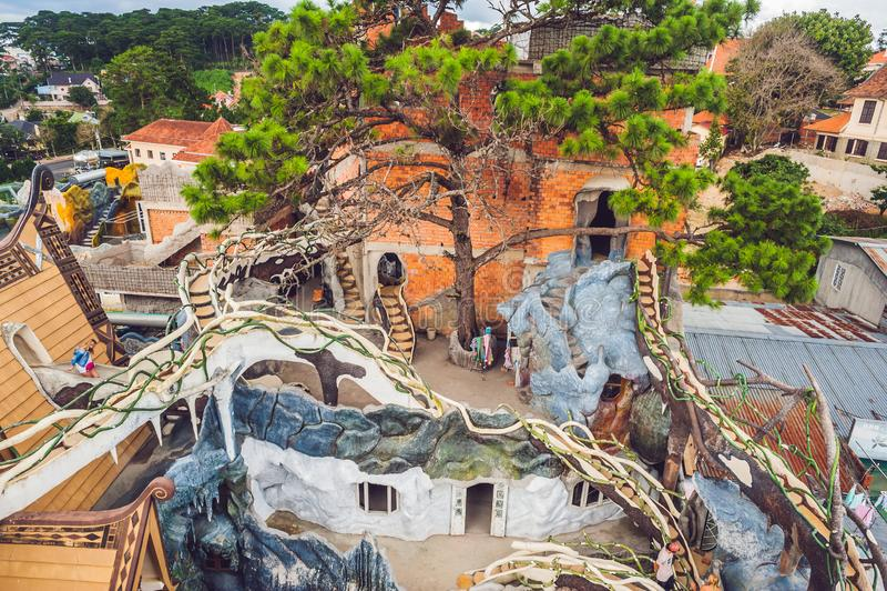 Vietnam, Dalat - 9 de mayo de 2017: Casa loca de las atracciones de Dalat imagen de archivo libre de regalías