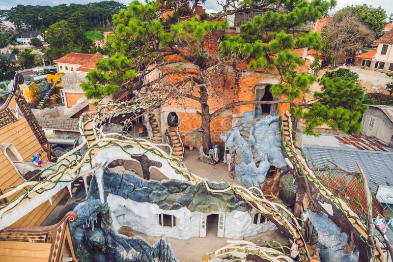 Vietnam, Dalat - May 9, 2017: Dalat Attractions Crazy House. Vietnam, Dalat - May 9, 2017 Dalat Attractions Crazy House royalty free stock image