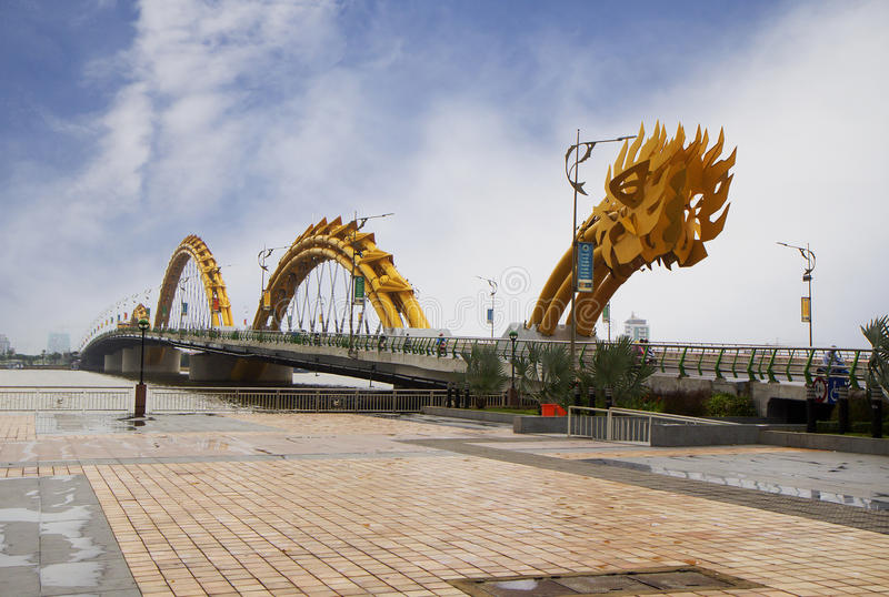 Vietnam Danang Lion Sculpture At The Entrance To The