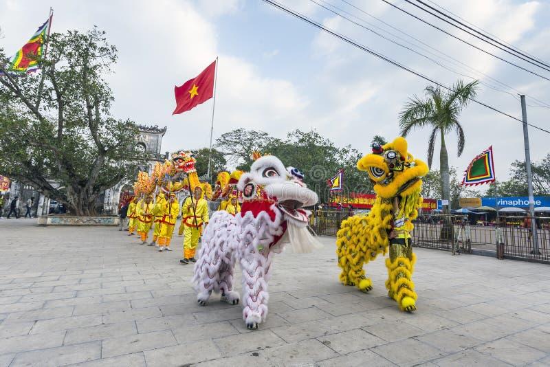 Tran Hung Dao Temple stock photo