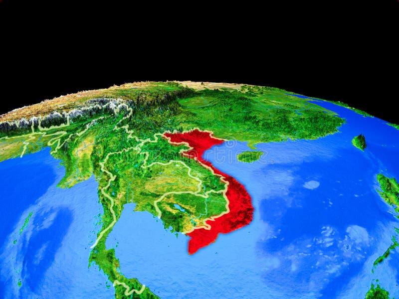 Vietnam del espacio en la tierra stock de ilustración