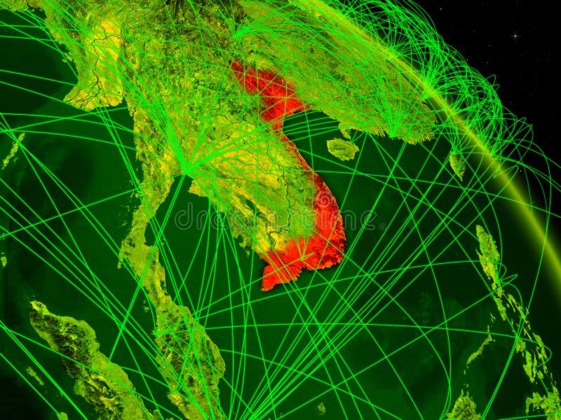 Vietnam en el globo digital ilustración del vector
