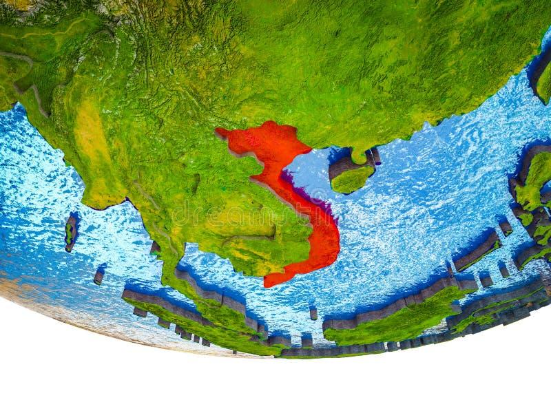 Vietnam en la tierra 3D ilustración del vector