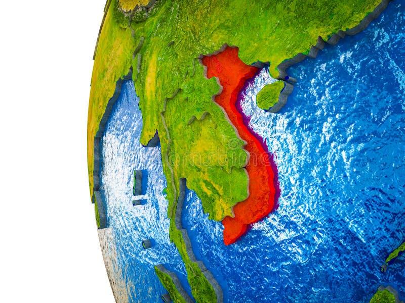 Vietnam en la tierra 3D libre illustration