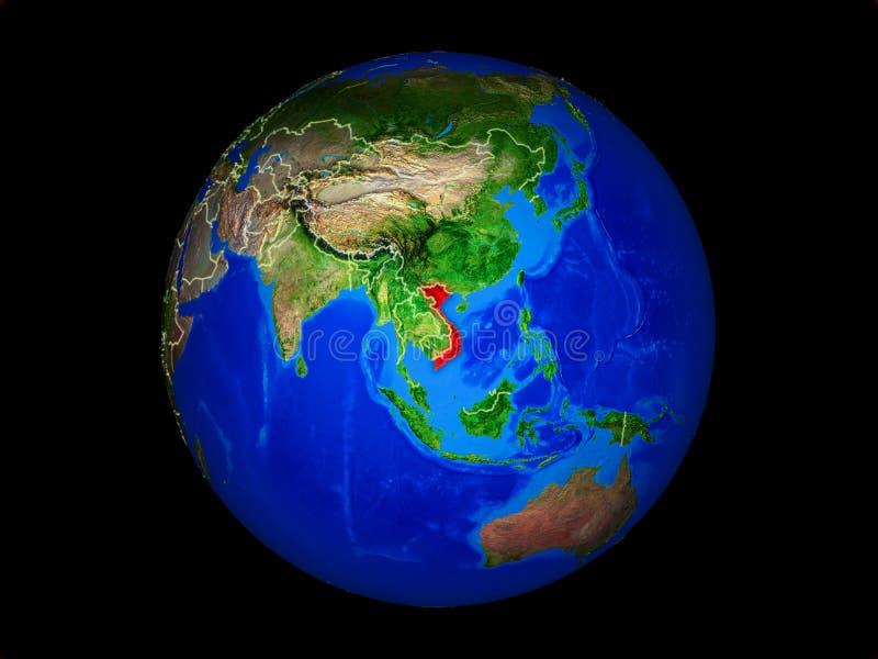 Vietnam en la tierra del espacio libre illustration