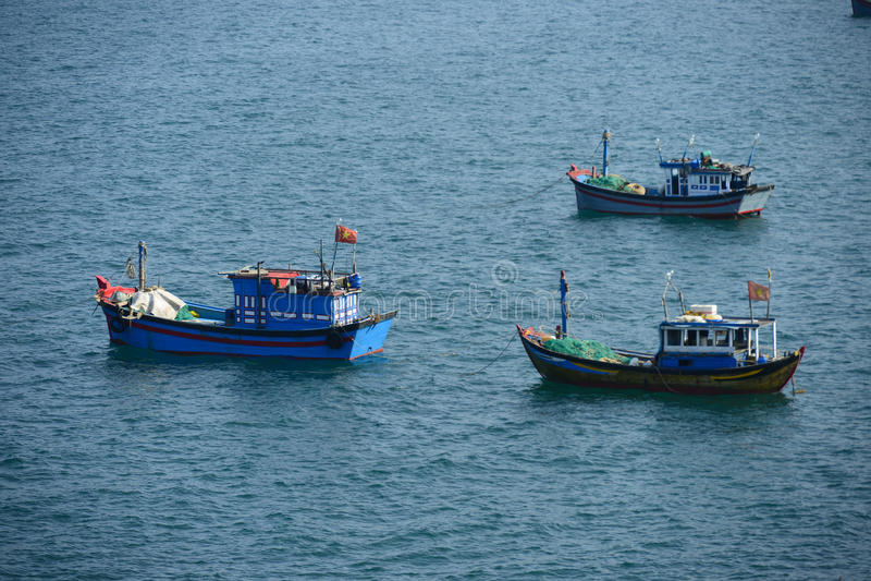 Vietnam fishing boat, Phu Yen. Vietnam royalty free stock photos