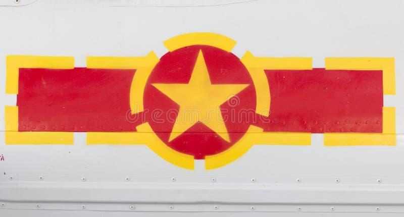 Vietnam Flag Symbol Aircraft. Vietnam Flag Symbol on Air force Plane stock photo