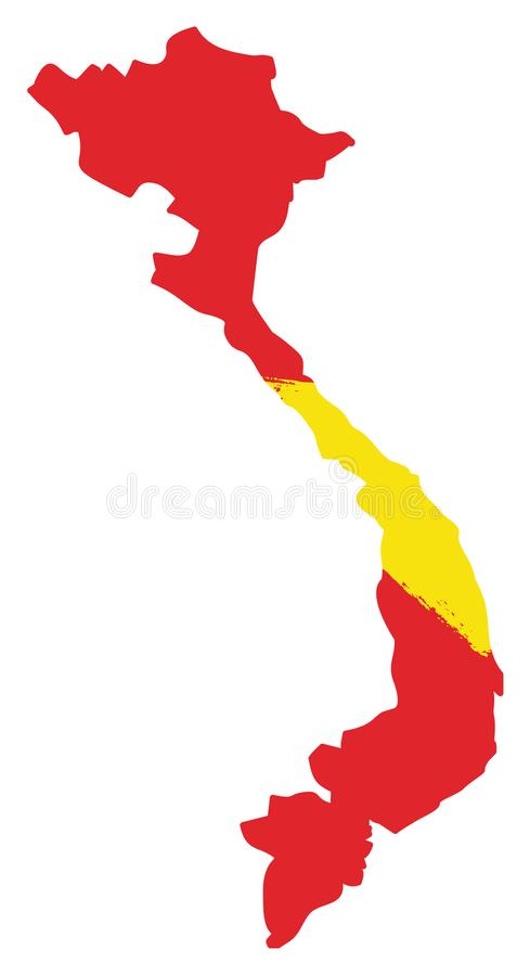 Vietnam flagga stock illustrationer
