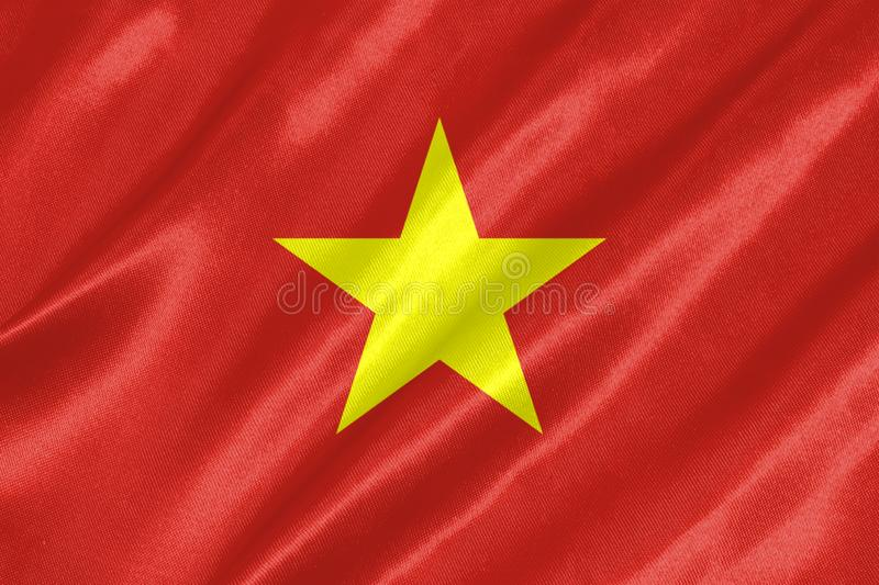 Vietnam flagga vektor illustrationer