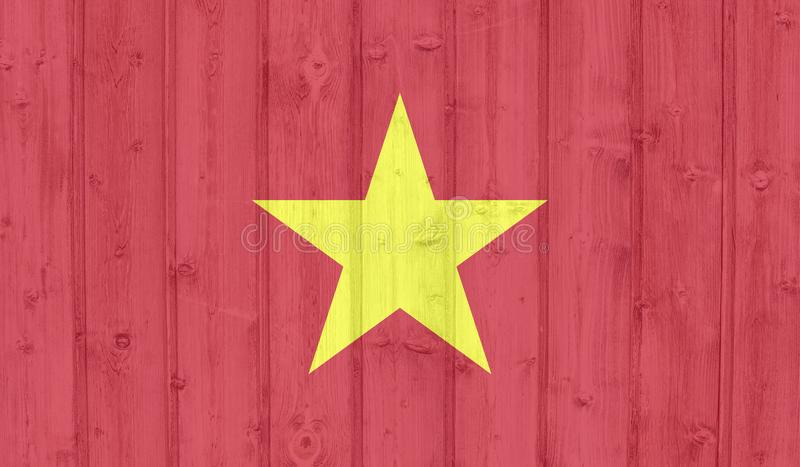 Vietnam flagga stock illustrationer