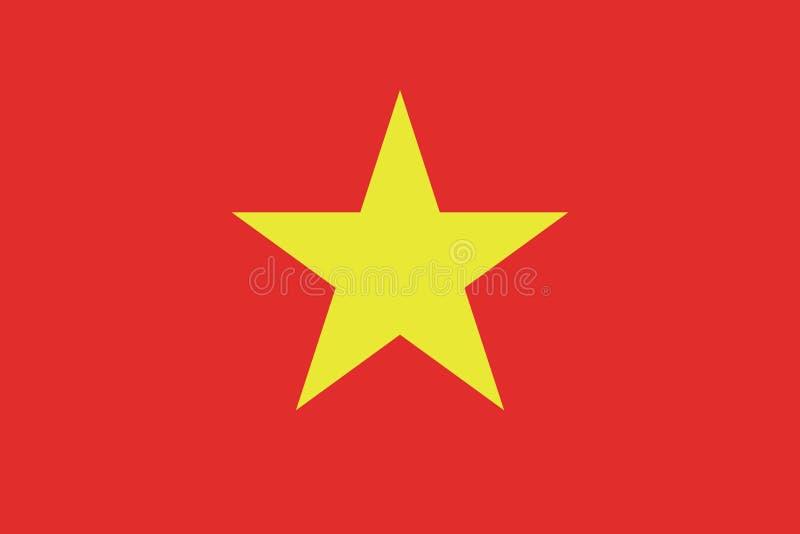 Vietnam flaggavektor eps10 Vietnamesisk flagga Vietnam flagga royaltyfri illustrationer