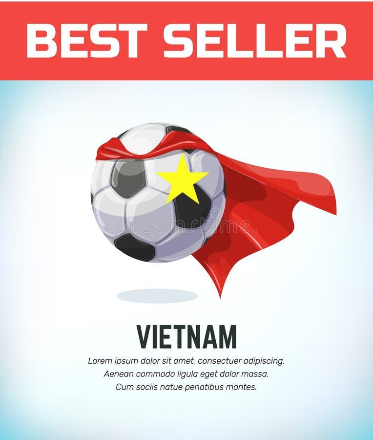 Vietnam-Fu?ball oder -Fu?ball Fu?ballnationalmannschaft Auch im corel abgehobenen Betrag stock abbildung