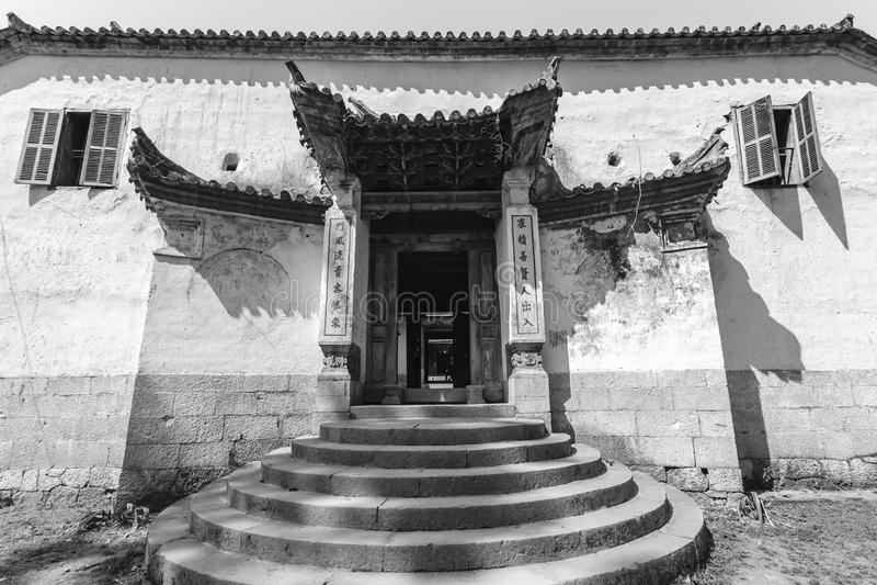 Vietnam gammalt hus fotografering för bildbyråer