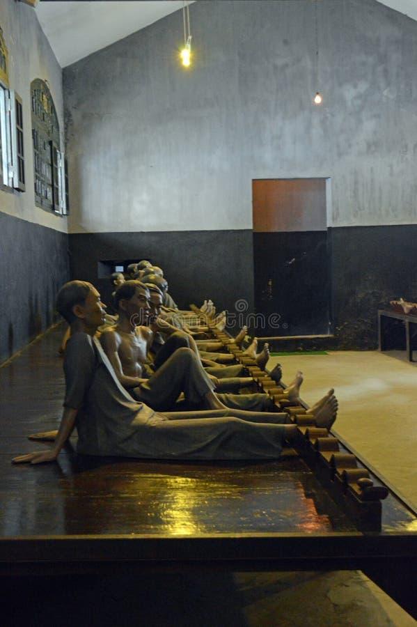 Vietnam - Hanoi - el barrio francés - presos del vietnamita de la prisión de Hoa Lo imagenes de archivo