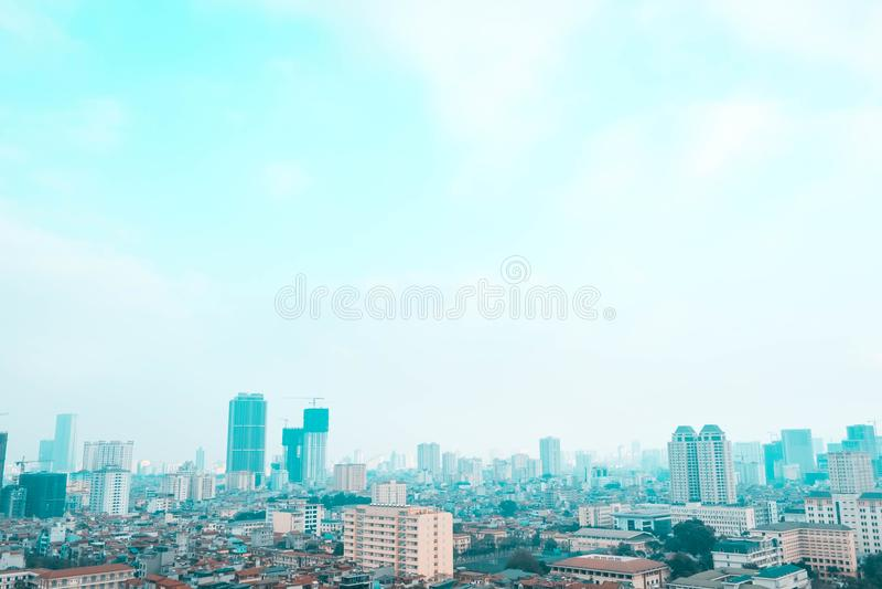 Vietnam, Hanoi - Gezichtspunt van de hoogte stock afbeelding