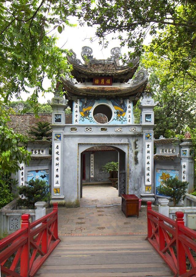 vietnam hanoi O templo do filho de Ngoc fotografia de stock