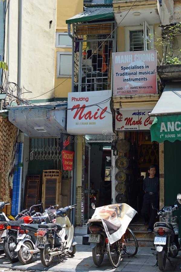 Vietnam - Hanoi -tube houses stock images