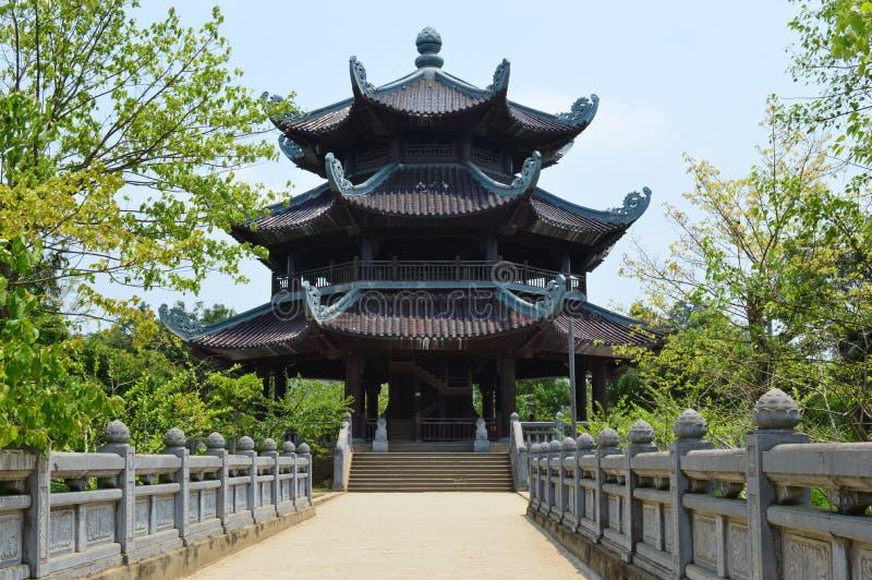 Vietnam - het Noorden - Bai Dinh Pagoda royalty-vrije stock foto