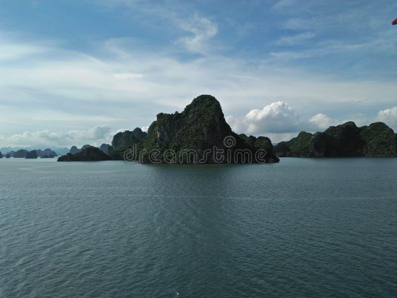 Vietnam hill sky sea royalty free stock photos
