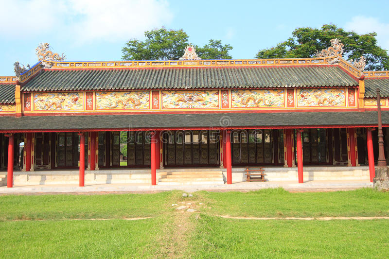 Vietnam Hue Complex of Hue Monuments. The Complex of Hue Monuments is located in and around Hue City in Thua Thien-Hue Province in the geographical centre of stock photo