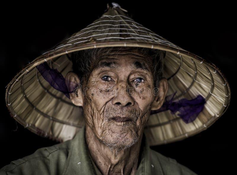 Vietnam man. Nepal Vietnam Asia working man stock image