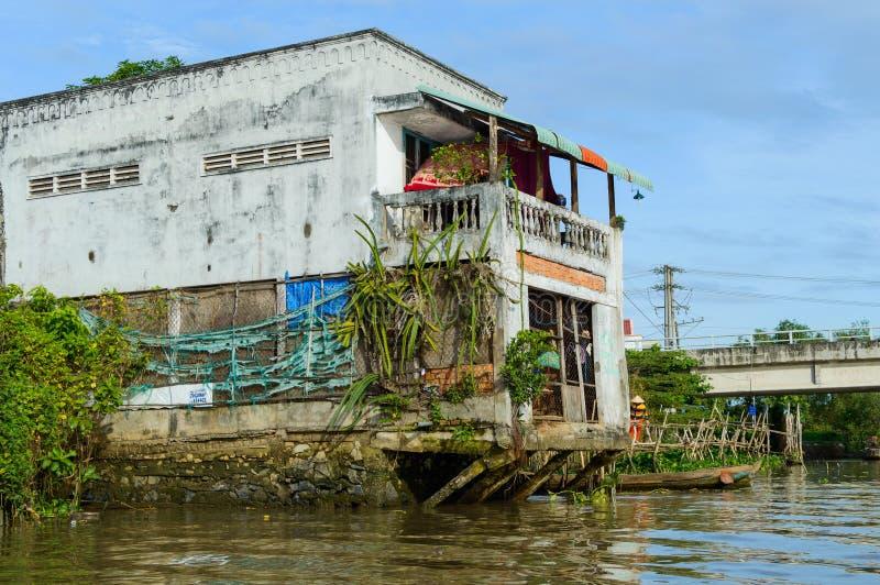 Vietnam Mekong delta rzeki obraz stock