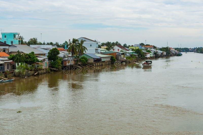 Vietnam Mekong delta rzeki zdjęcie royalty free