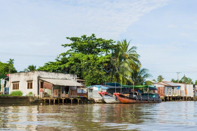Vietnam Mekong delta rzeki obrazy stock