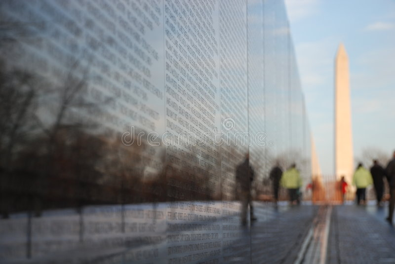 Vietnam memorial. Image of vietnam memorial with reflections royalty free stock photo