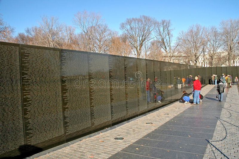 Vietnam Memorial Wall Washington stock image