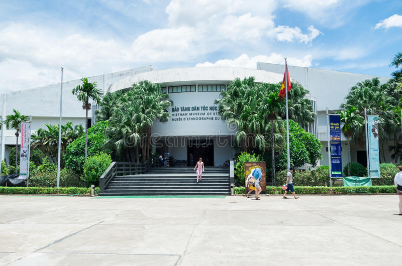 Vietnam museum av etnologi i Hanoi royaltyfria foton