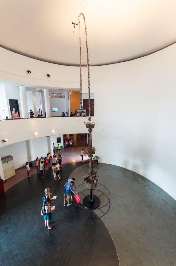 Vietnam museum av etnologi i Hanoi royaltyfri foto