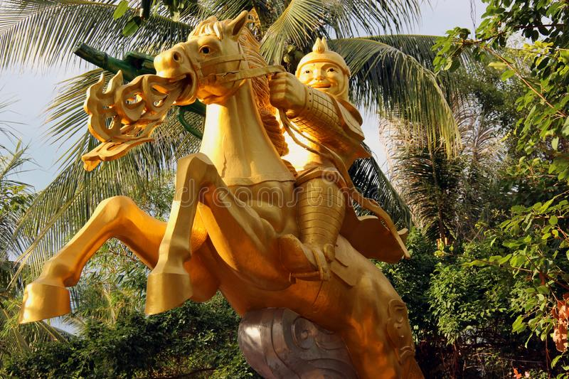 Knight on dragon. Vietnam, Nha Trang, July 2015: Knight on dragon stock photo