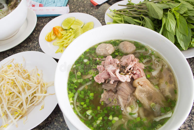 Vietnam noodle PHO stock photo