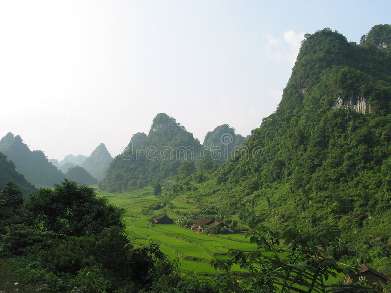 Vietnam północne doliny obraz stock